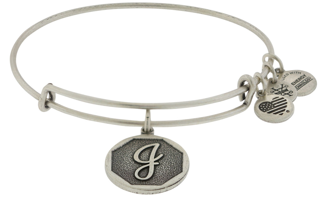 Alex and Ani Initial J Charm Bangle Bracelet -