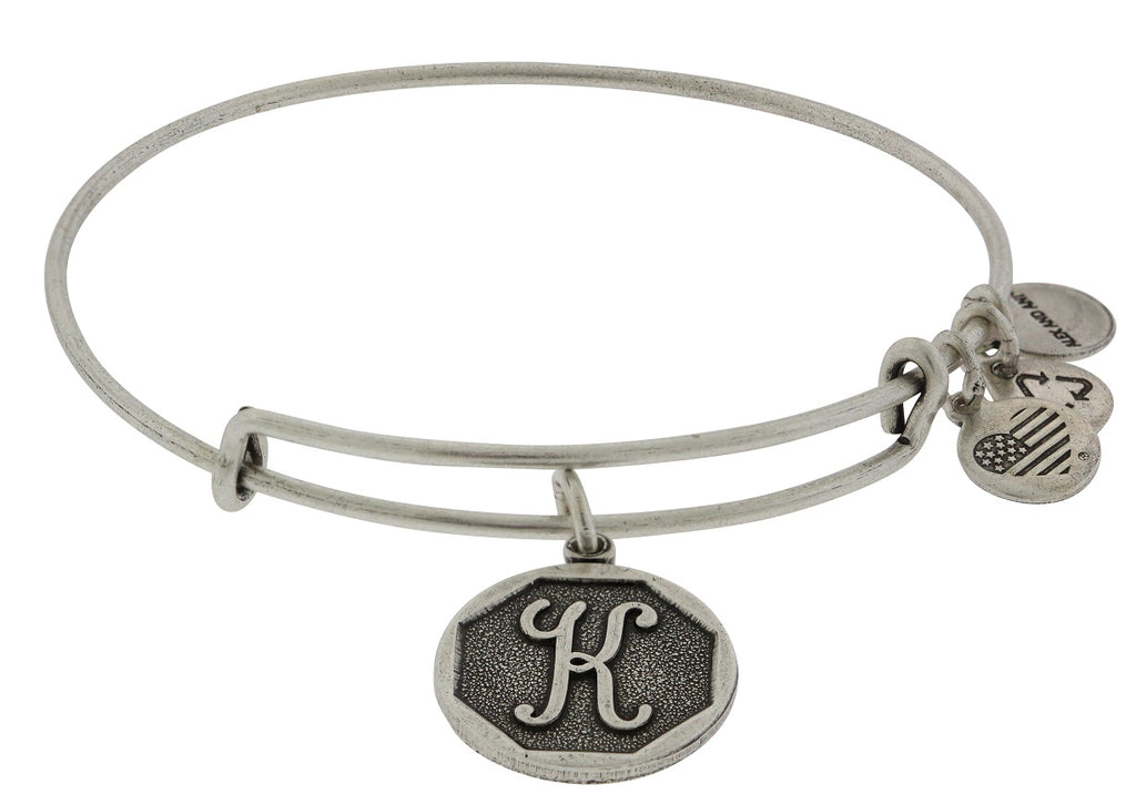 Alex and Ani Initial K Charm Bangle Bracelet -