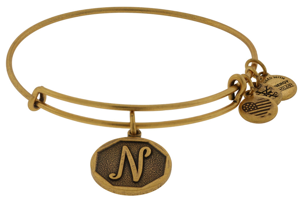 Alex and Ani Initial N Charm Bangle Bracelet -