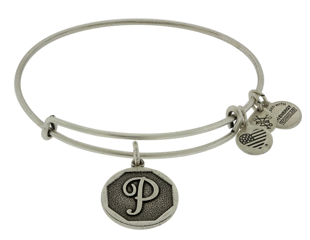 Alex and Ani Initial P Charm Bangle Bracelet -