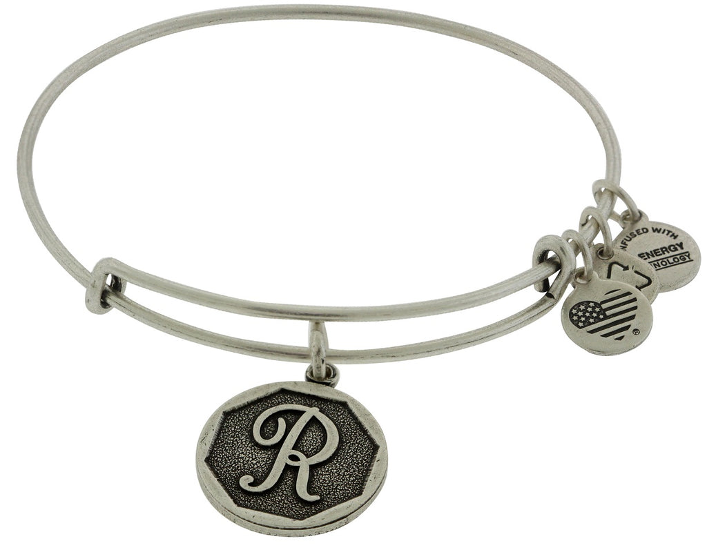 Alex and Ani Initial R Charm Bangle Bracelet -
