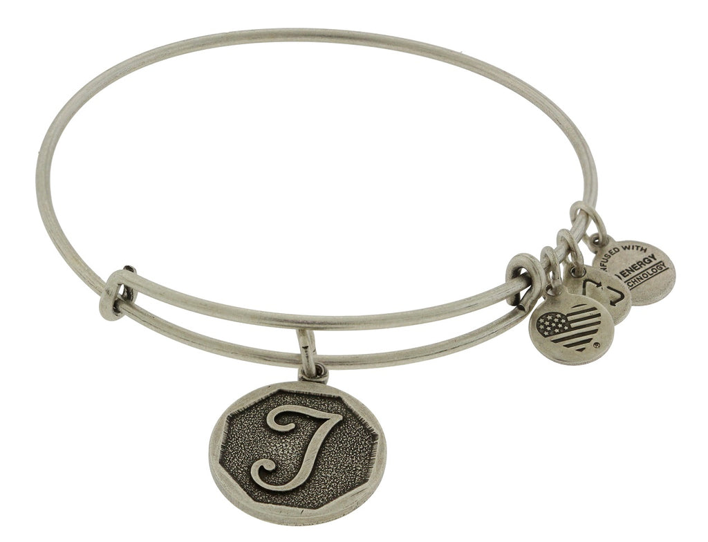 Alex and Ani Initial T Charm Bangle Bracelet -