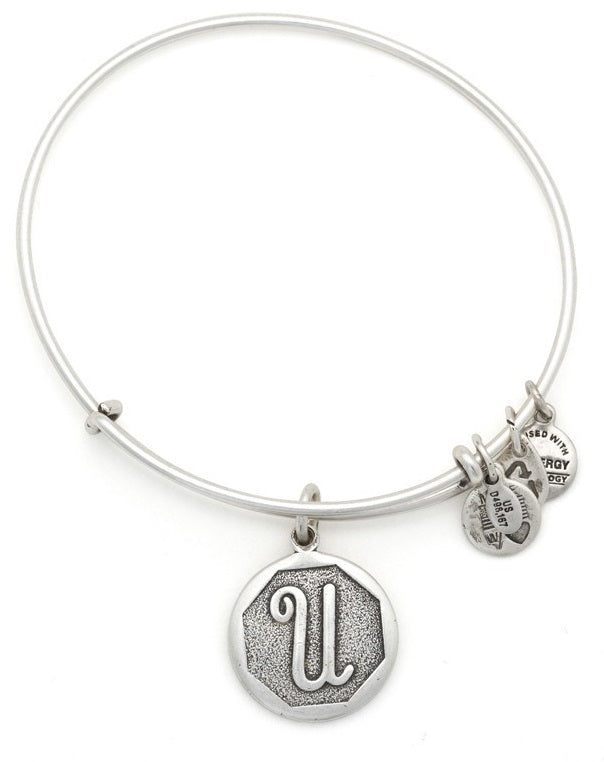 Alex and Ani Initial Expandable Wire Bangle Bracelet -