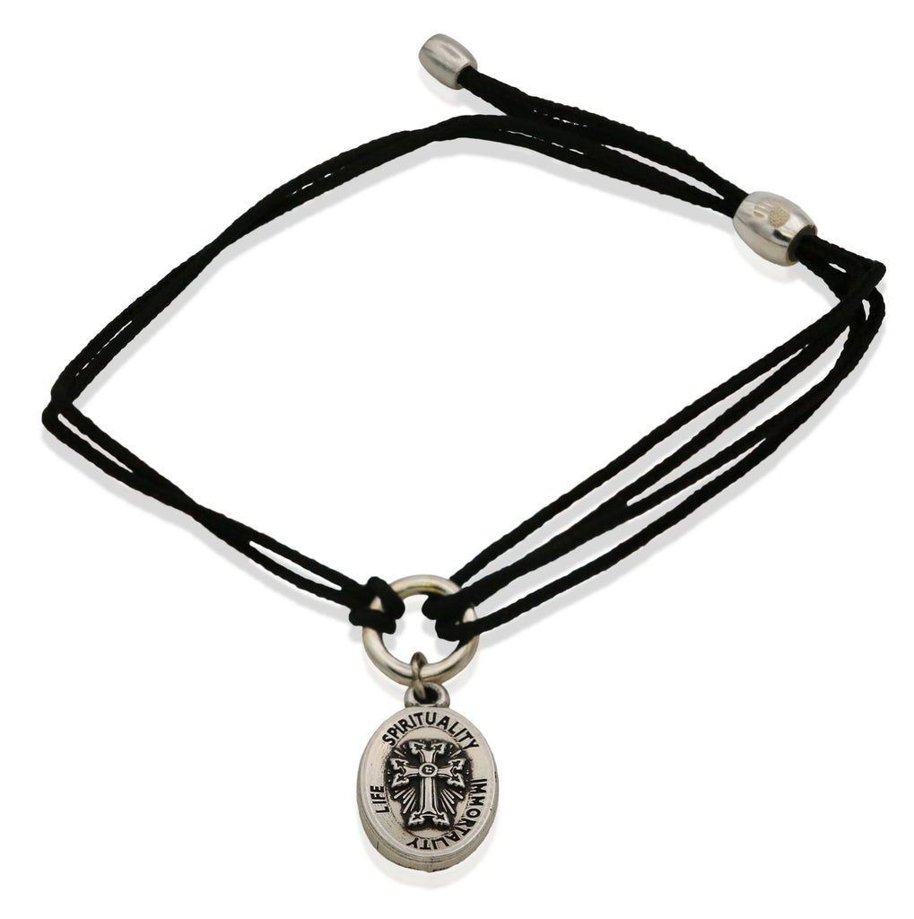 Alex & Ani Armenian Cross Iv Russian Gold Charm Bangle