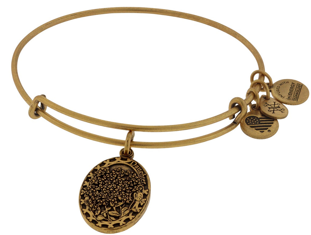 Alex and Ani I Love You Daughter Expandable Wire Bangle - Rose Gold