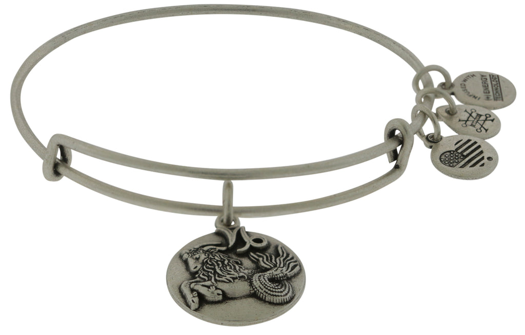 ALEX AND ANI Capricorn Charm Bangle - Sterling Silver -