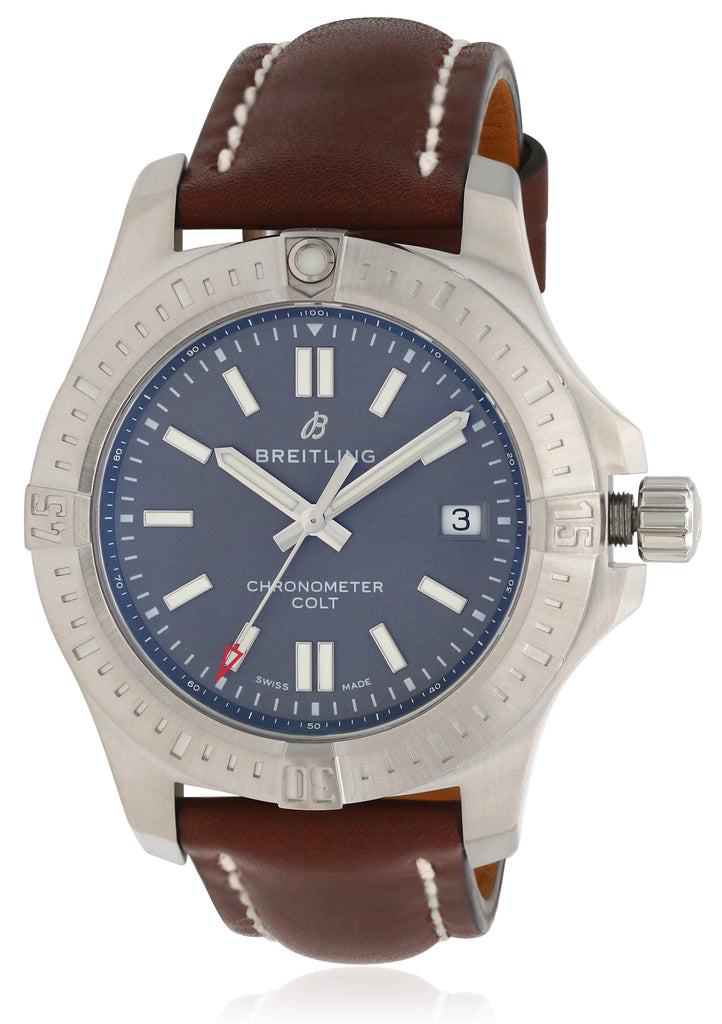 Breitling Colt Automatic Chronometer Leather Mens Watch
