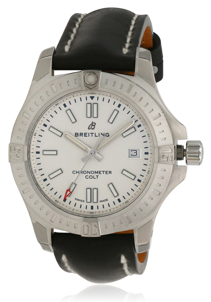 Breitling Chronomat Colt Automatic Leather Mens Watch