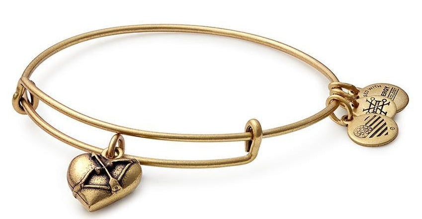 Alex and Ani Cupids Heart Charm Bangle -