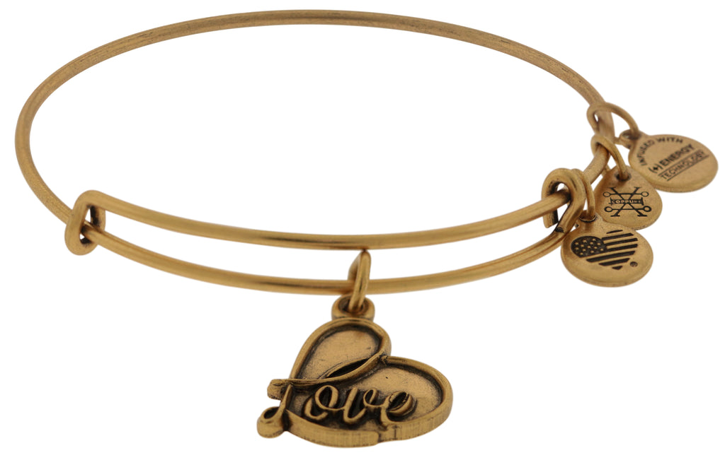 Alex and Ani Love Charm Bangle - Rafaelian Gold Finish -