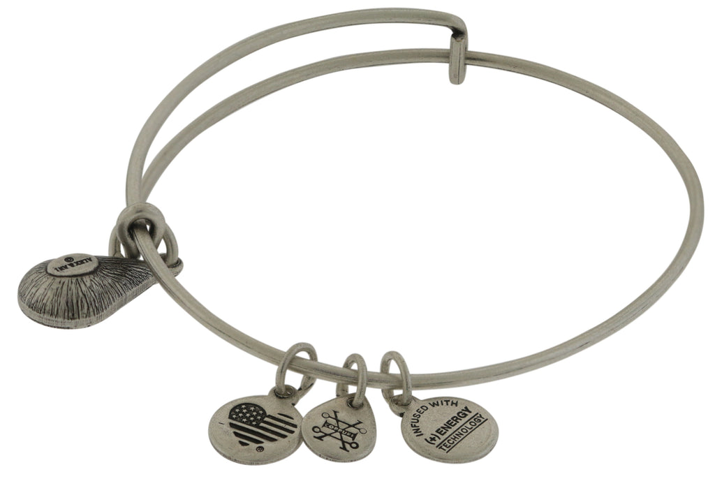 Alex and Ani April Drop Charm Bangle Bracelet - Rafaelian Silver -