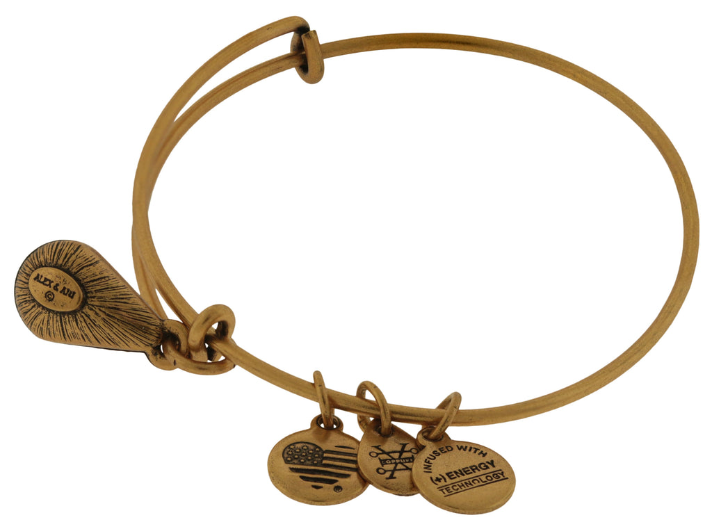 Alex and Ani June Drop Charm Bangle Bracelet - Rafaelian Gold -