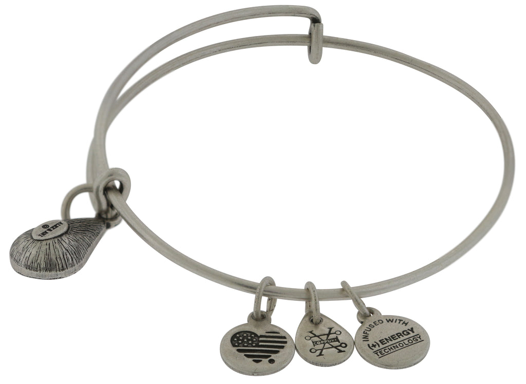 Alex and Ani June Drop Charm Bangle Bracelet - Rafaelian Silver -