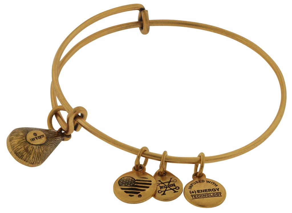 Alex and Ani July Drop Charm Bangle Bracelet - Rafaelian Gold -