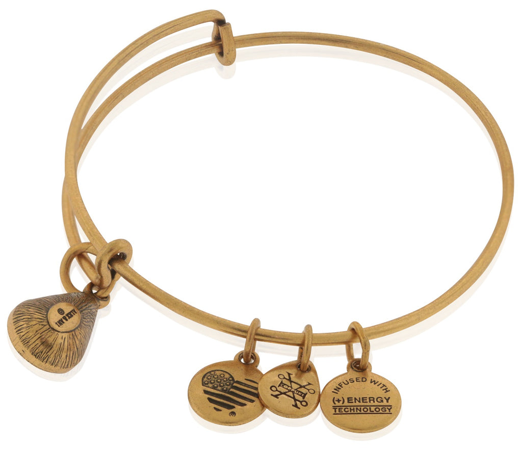 Alex and Ani October Drop Charm Bangle Bracelet - Rafaelian Gold -