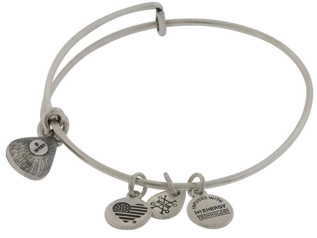 Alex and Ani October Drop Charm Bangle Bracelet - Rafaelian Silver -
