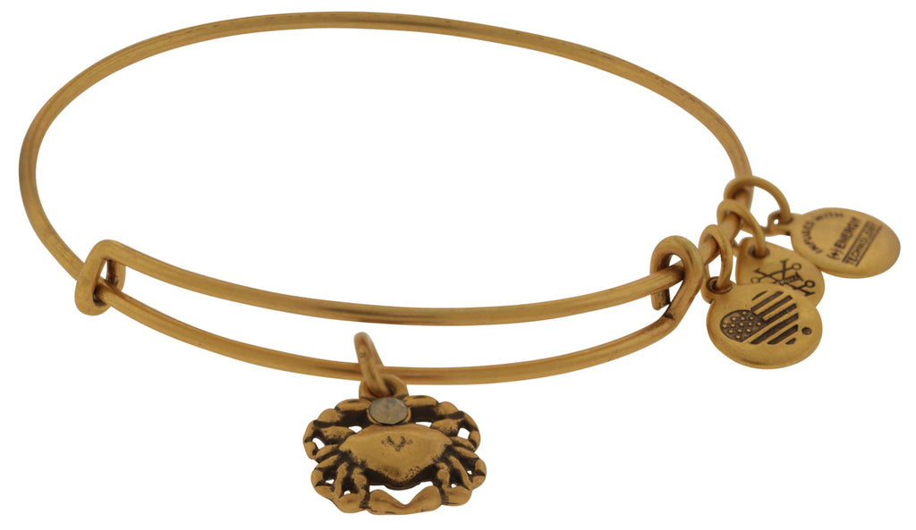 Alex and Ani Crab Bangle Bracelet - Rafaelian Gold -