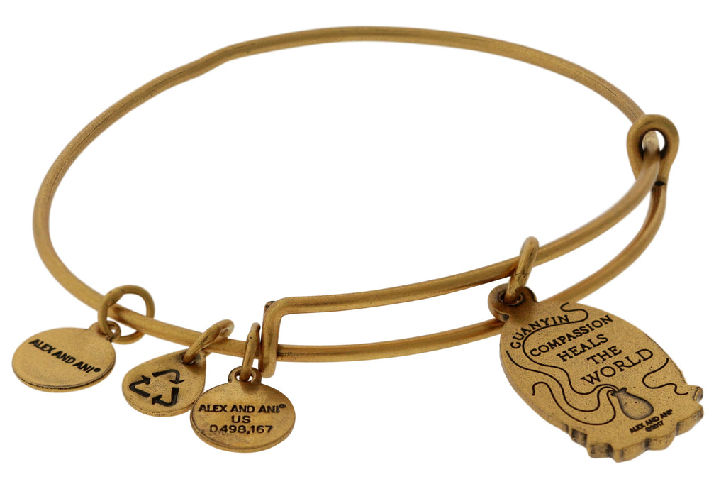 Alex And Ani Guan Yin Charm Bangle -