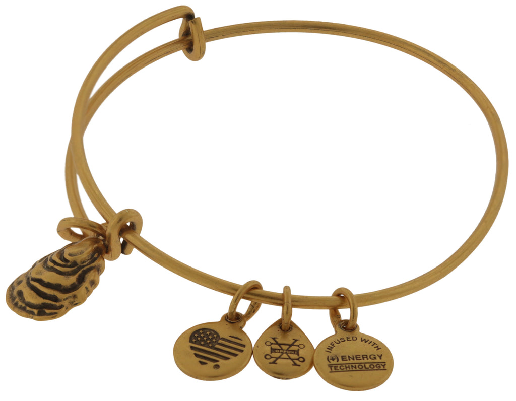 Alex and Ani Oyster and Pearl Bangle Bracelet - Rafaelian Gold -