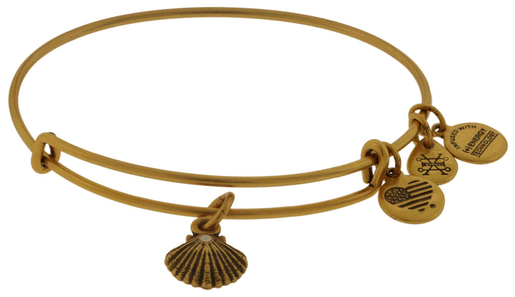 Alex and Ani Seashell Bangle Bracelet - Rafaelian Gold -