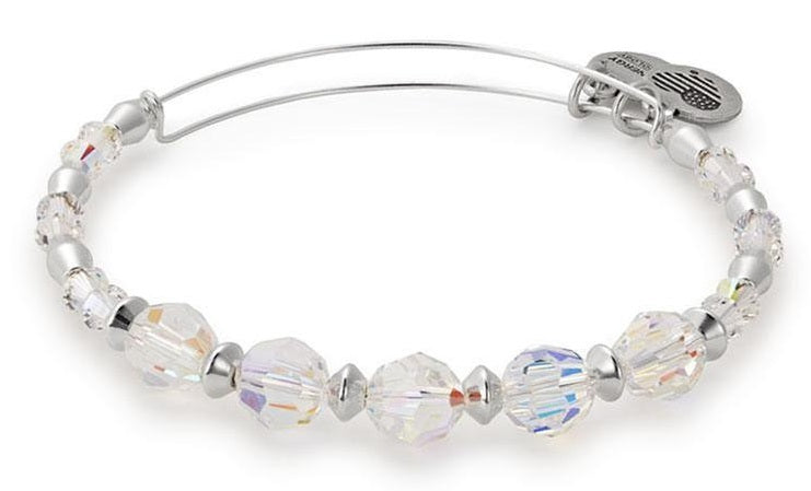 Alex and Ani Frost Beaded Bangle with Swarovski Crystals -
