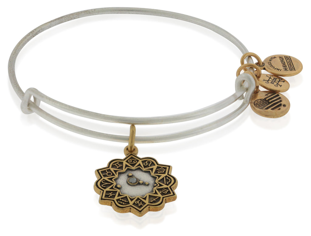 Alex And Ani Cancer Two Tone Bracelet -