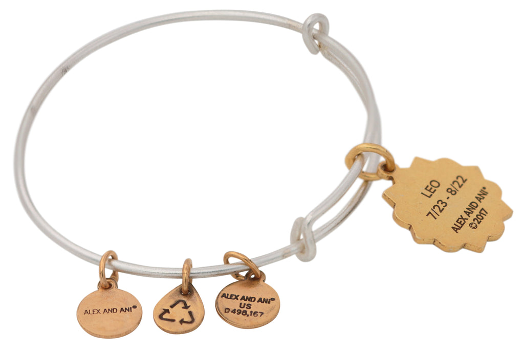 Alex And Ani Leo Two Tone Bracelet -