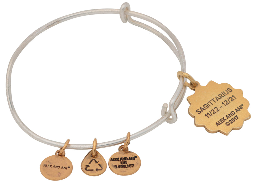 Alex And Ani Sagittarius Two Tone Bracelet -