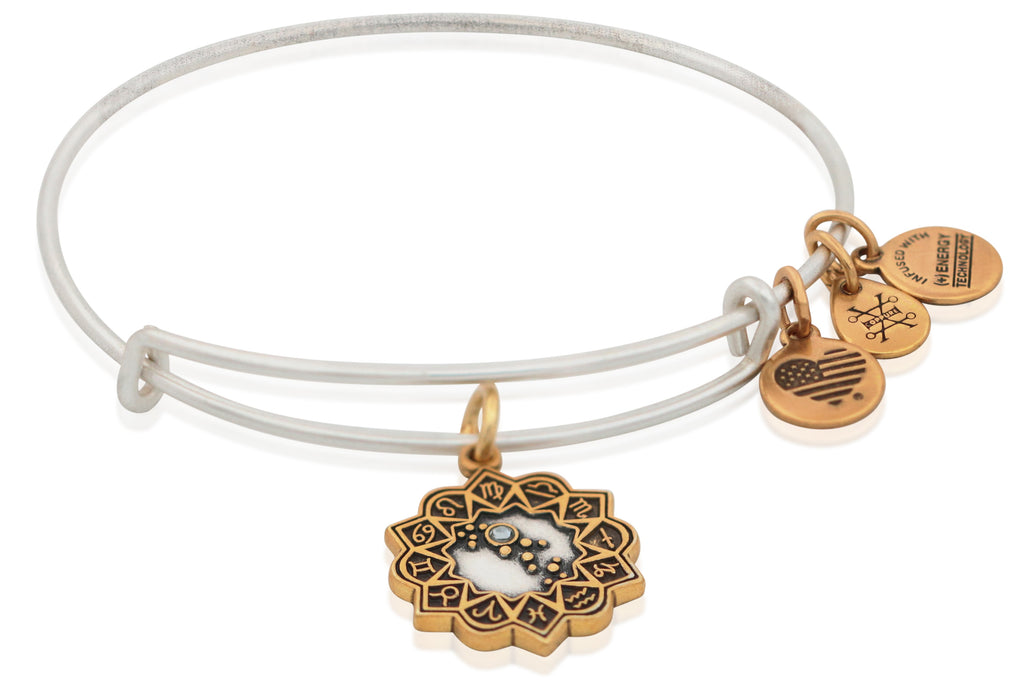 Alex And Ani Virgo Two Tone Bracelet -