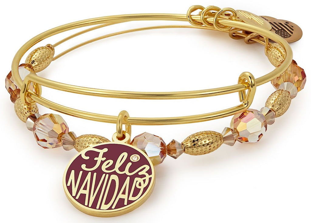 Alex And Ani Feliz Navidad Bracelet Charm Set of 2 -