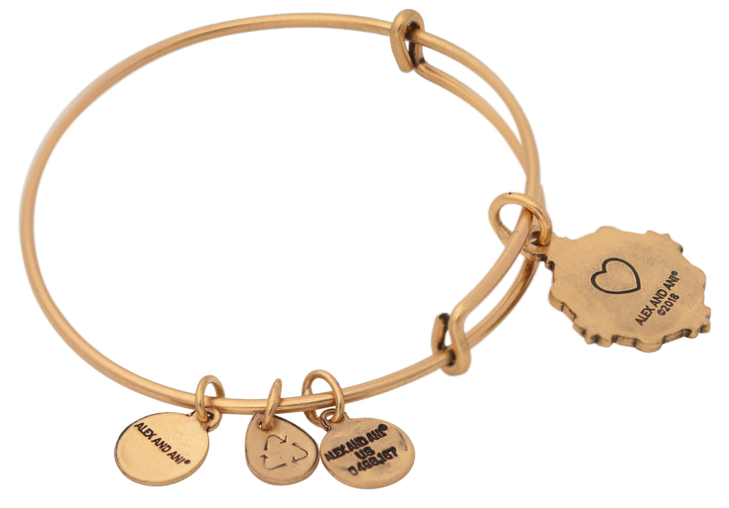 Alex and Ani Because I Love You Granddaughter Bangle -