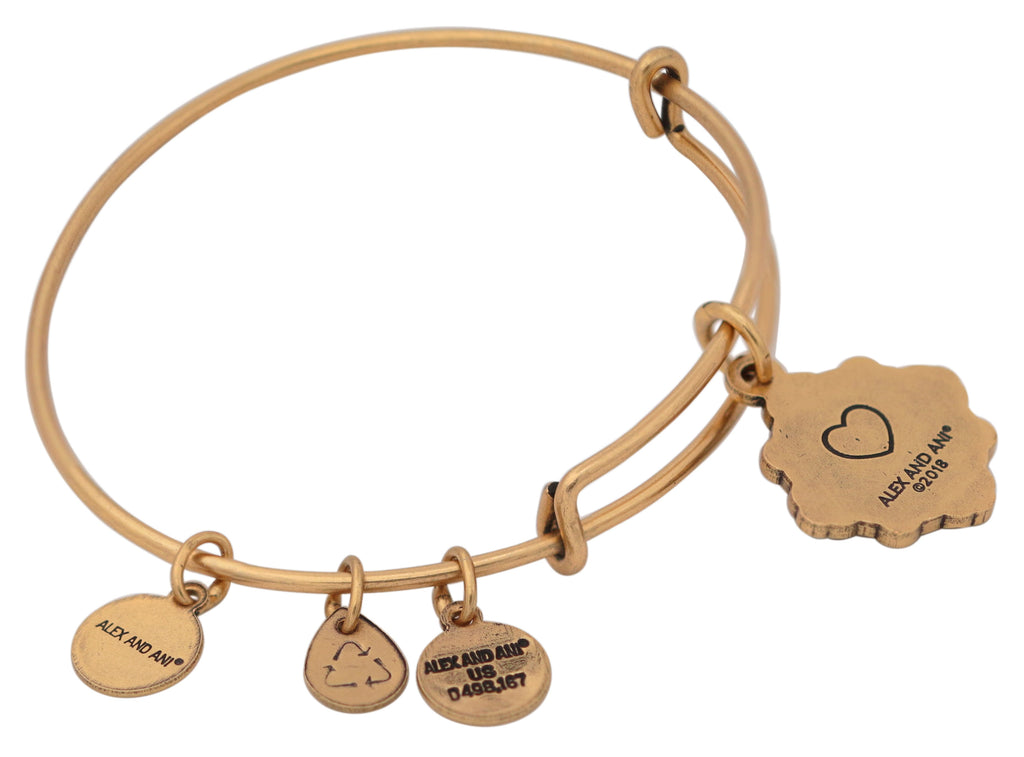 Alex and Ani Goddaughter Charm Bangle Bracelet 2018 - Rafaelian Gold -