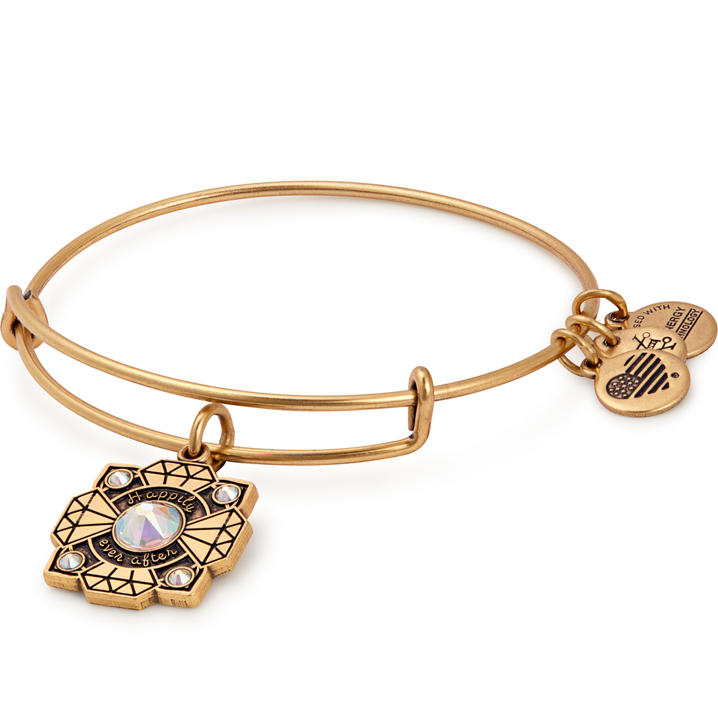 Alex And Ani Bride Gold Charm Bangle -