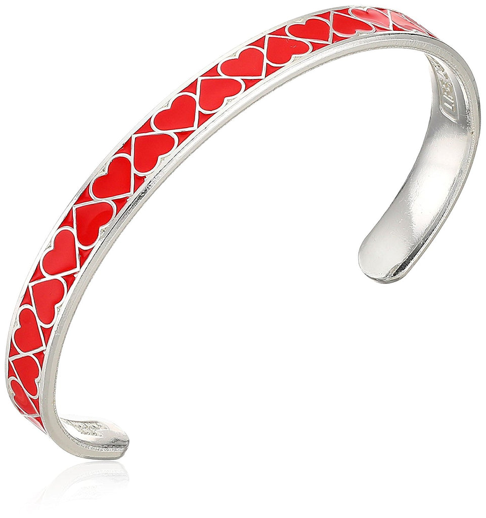 Alex And Ani Color Infusion Cuff - Heart - Red - SS -