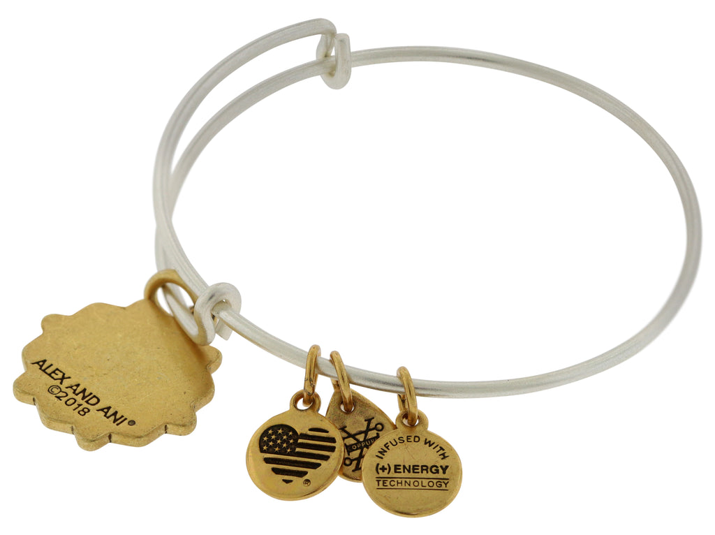 Alex And Ani Bat Mitzvah Two Tone Charm Bangle -