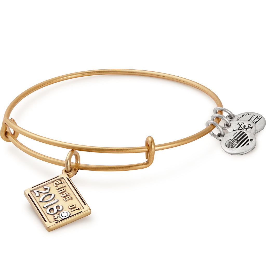 Alex And Ani Class Of 2018 Gold Charm Bangle -