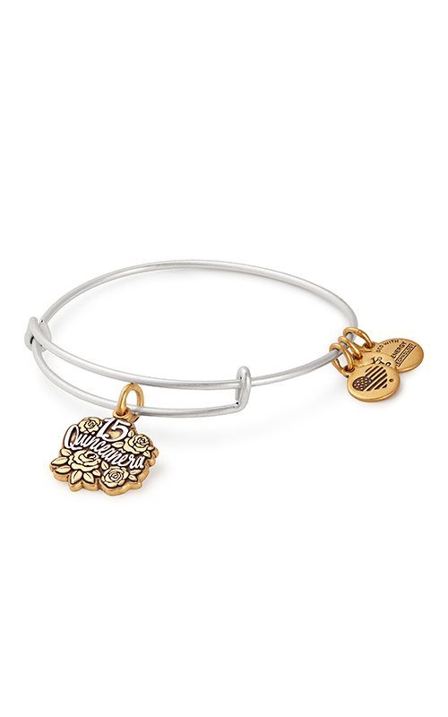 Alex And Ani Quinceanera Two Tone Charm Bangle -