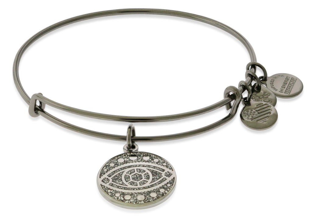 Alex And Ani Color Infusion - Evil Eye EWB - Midnight Silver