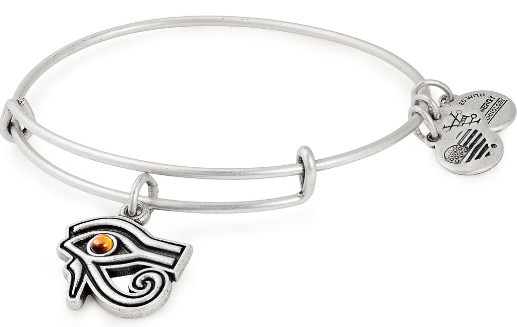 Alex And Ani Eye Of Horus Silver Charm Bangle -