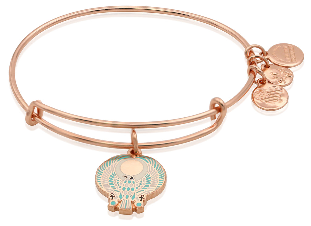 Alex and Ani Falcon EWB Bangle Bracelet - Shiny Rose - Expandable -