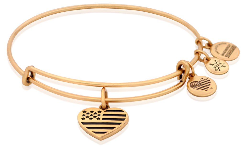 Alex And Ani Heart Flag EWB - RG -