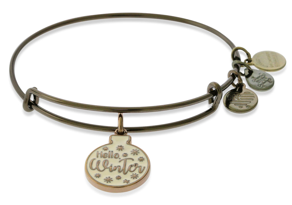 Alex And Ani Hello Winter Glitter Ornament EWB - Metallic Hazel