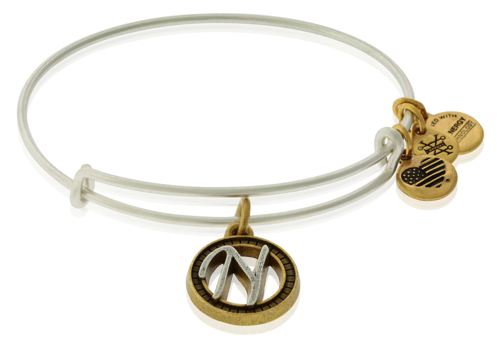 Alex and Ani Initial N Charm Bangle