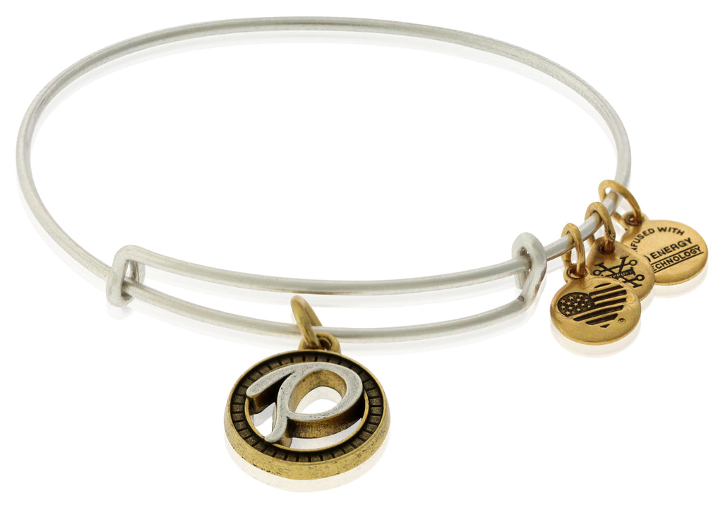 Alex and Ani Initial P Charm Bangle