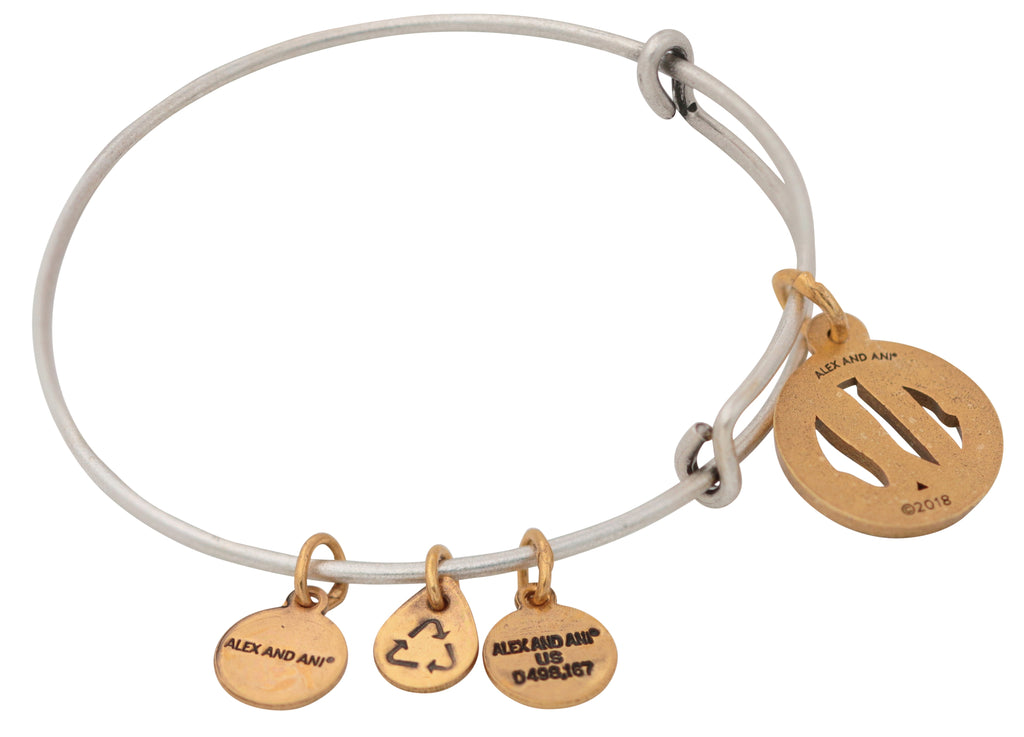 Alex And Ani Initial U Two Tone Charm Bangle