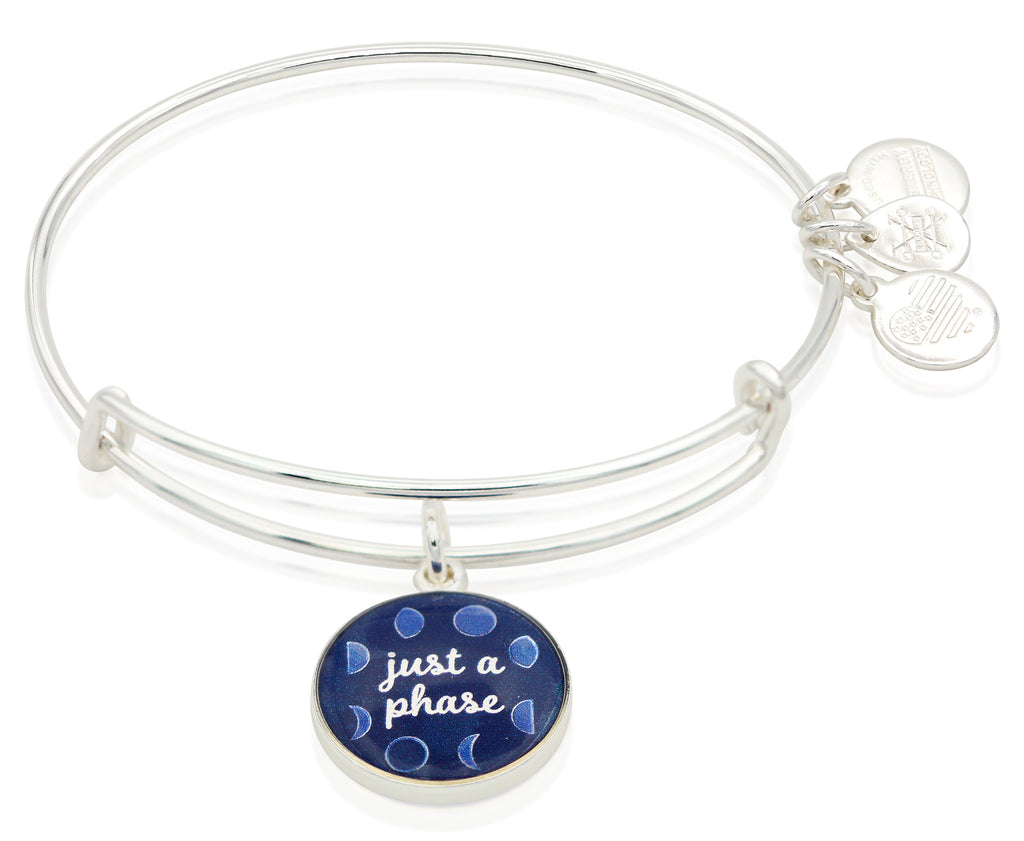 Alex and Ani  Art Infusion Just A Phase Charm Bangle Bracelet