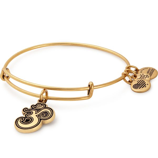 Alex And Ani Om Gold Charm Bangle -