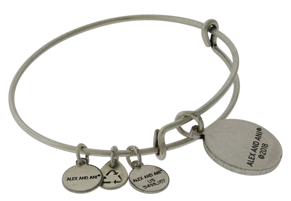 Alex And Ani Soul Sister Silver Charm Bangle -