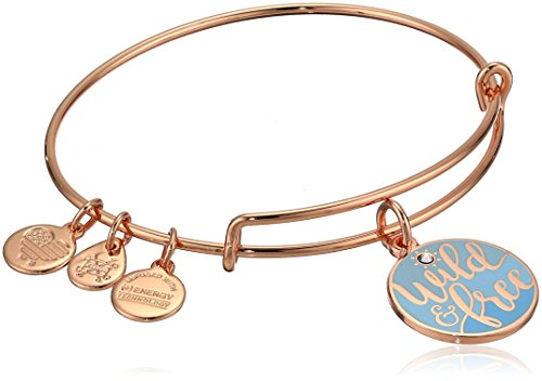 Alex and Ani Color Infusion - Words Are Powerful - Wild and Free Bracelet - Shiny Rose - Expandable  -