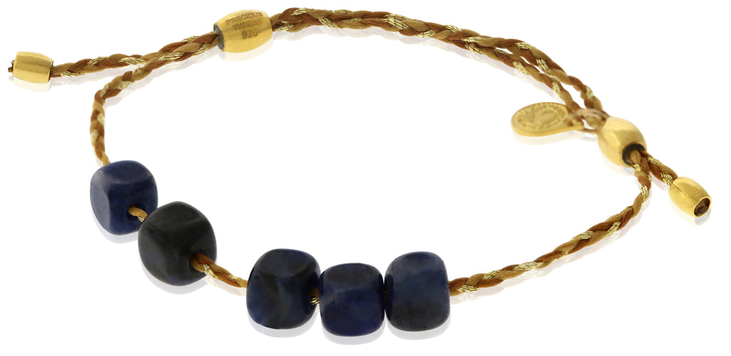 Alex and Ani Sodalite Gemstone Precious Threads Bracelet -